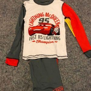 BNWT Disney's Size 10 Lightning McQueen Pajama Set
